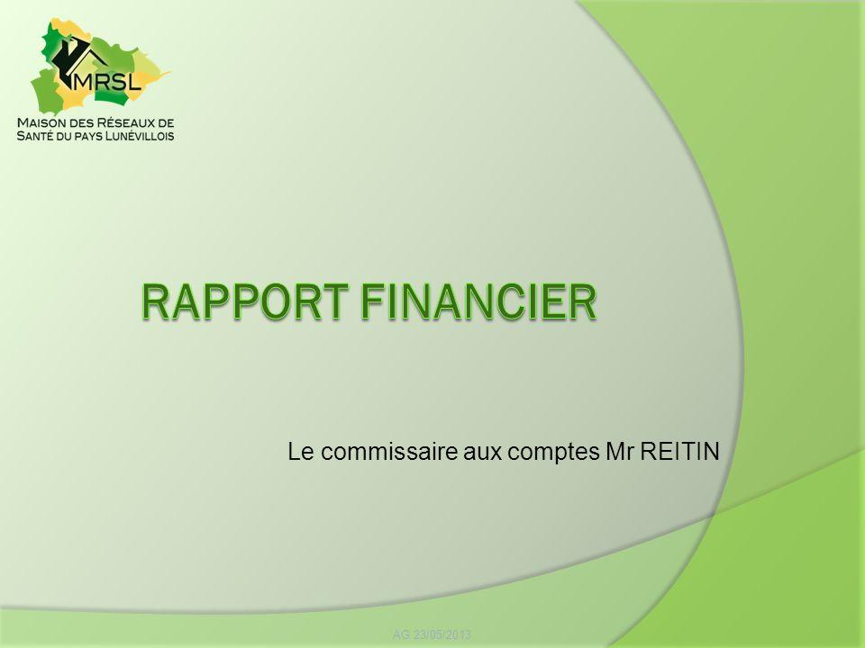 AG 23/05/2013 Le commissaire aux comptes Mr REITIN