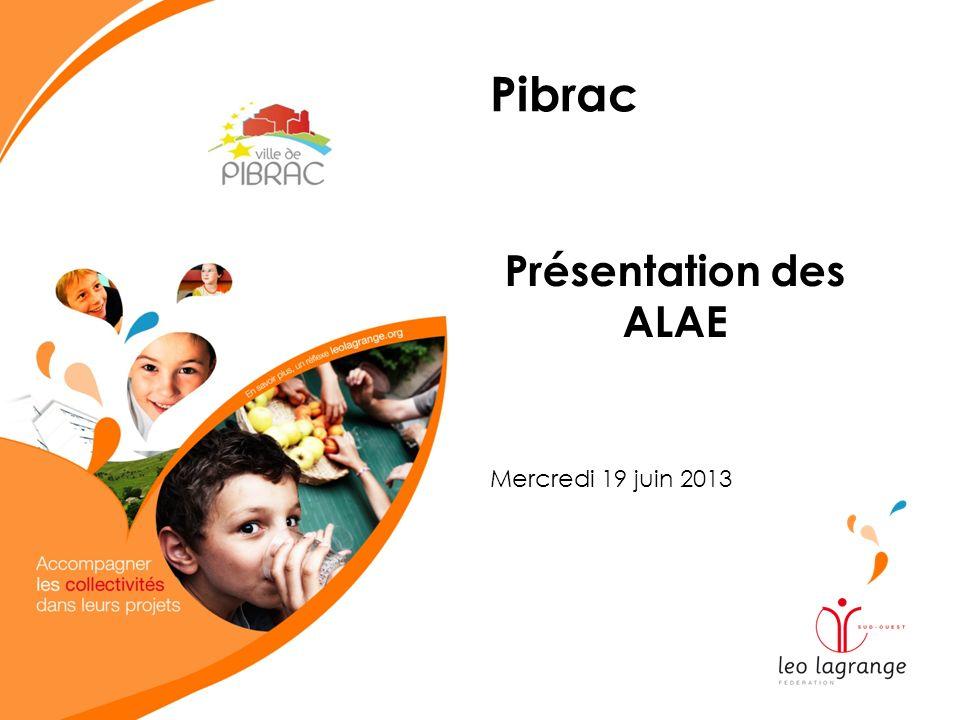 Pibrac Présentation des ALAE Mercredi 19 juin 2013