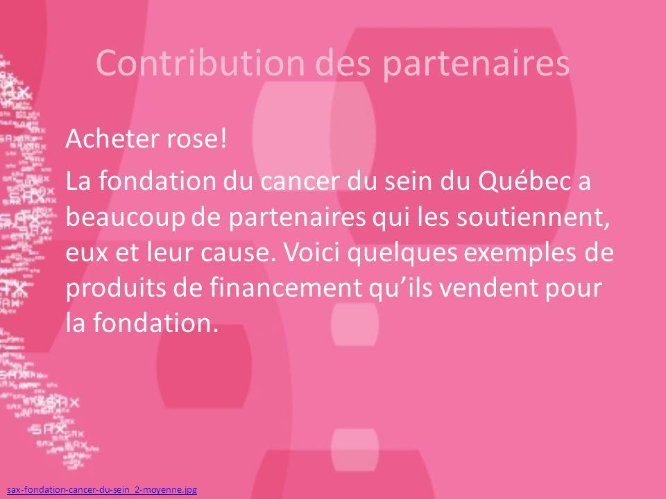 Contribution des partenaires Acheter rose.
