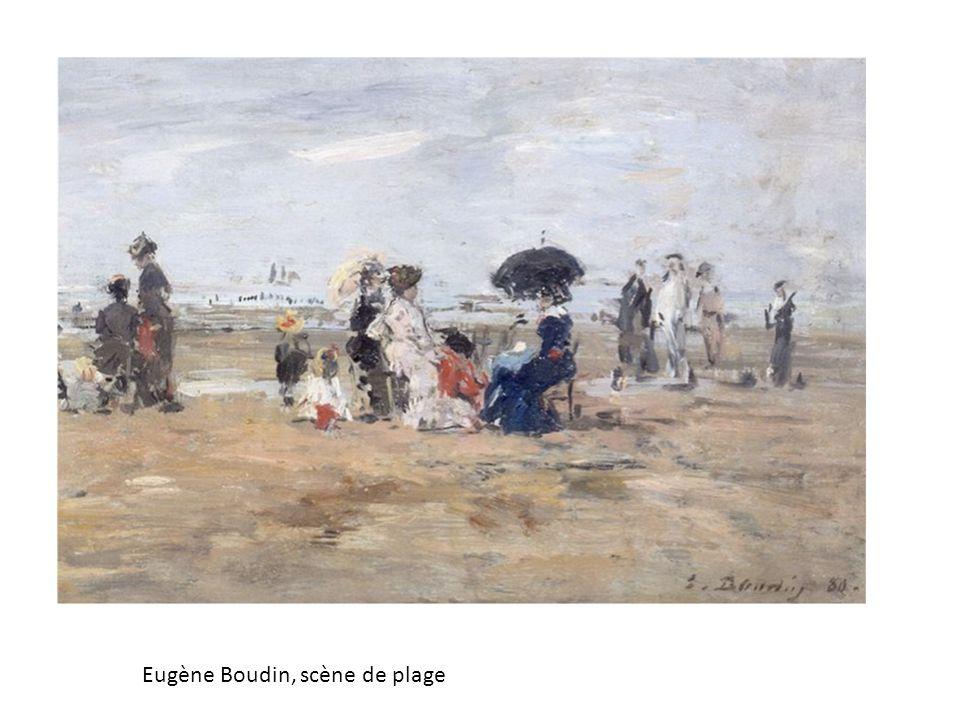 Eugène Boudin, scène de plage