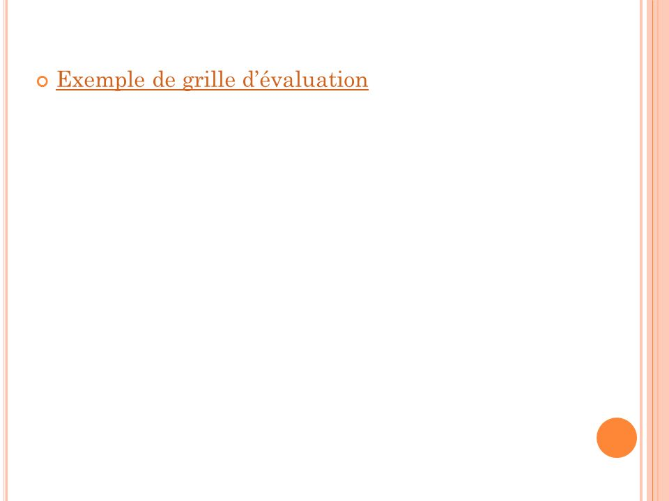 Exemple de grille dévaluation