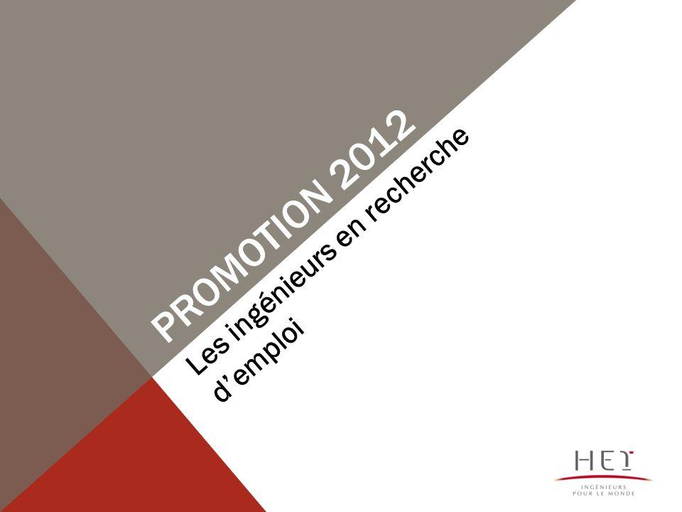 PROMOTION 2012 Les ingénieurs en recherche demploi