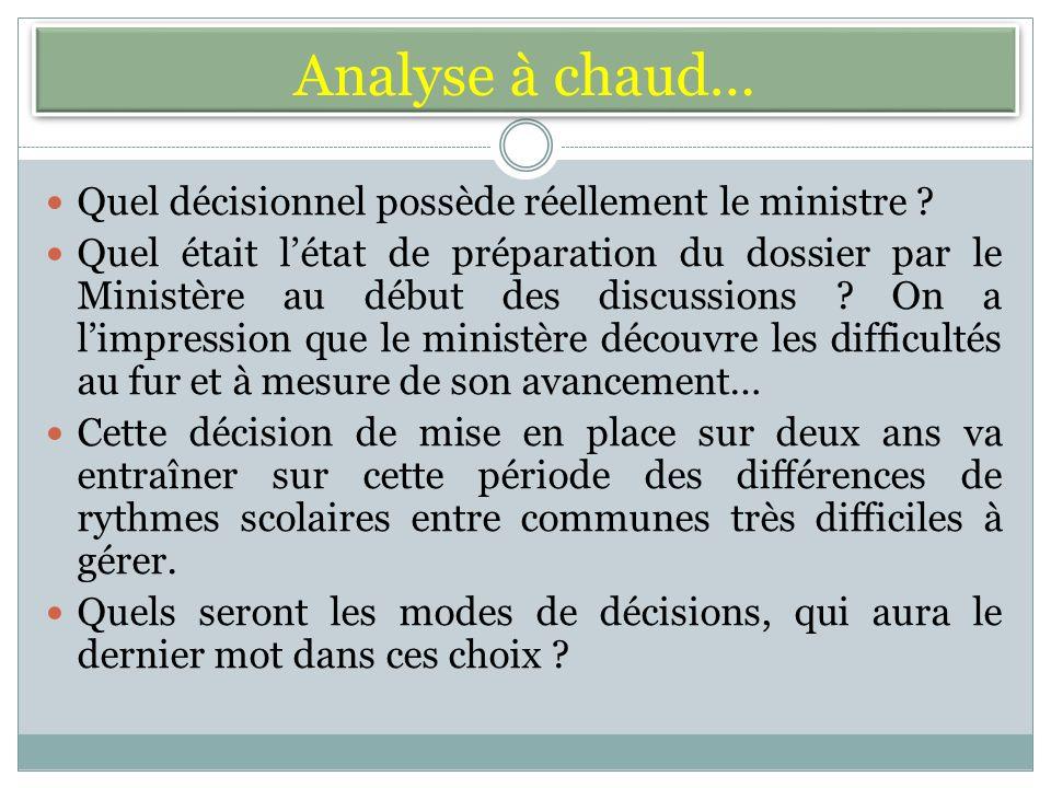 Analyse à chaud… Quel décisionnel possède réellement le ministre .