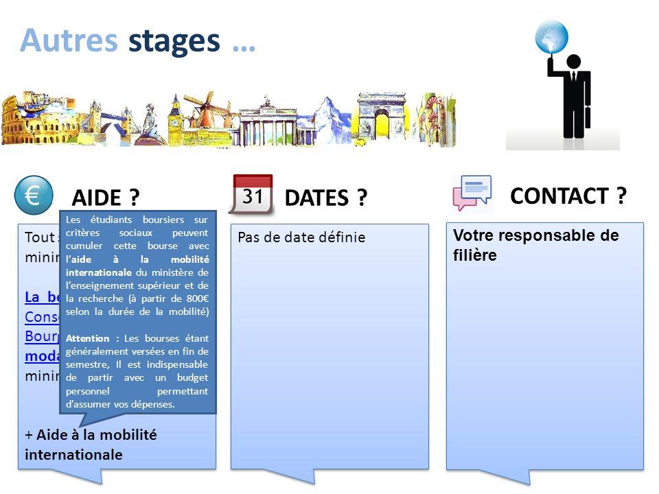 Autres stages … Tout stage de 3 mois minimum est financé La bourse de mobilité du Conseil régional de BourgogneLa bourse de mobilité du Conseil région