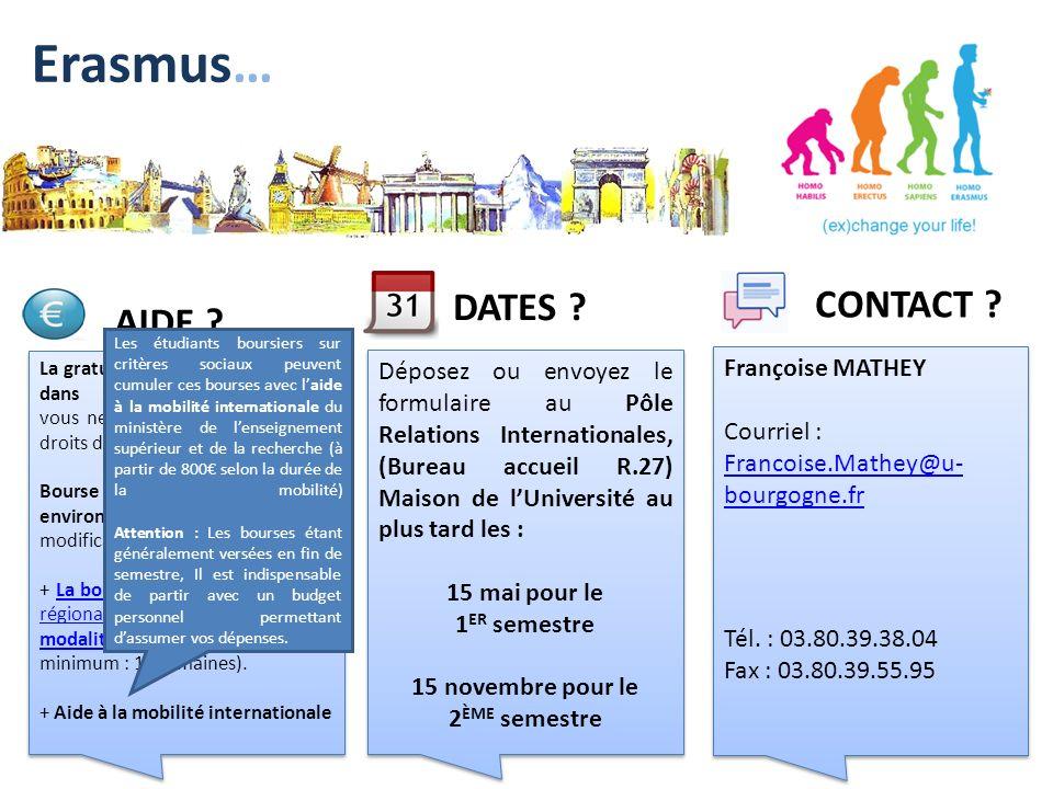 La gratuité des droits dinscription dans luniversité daccueil : vous ne vous acquitterez que des droits dinscription à luB. Bourse de mobilité Erasmus