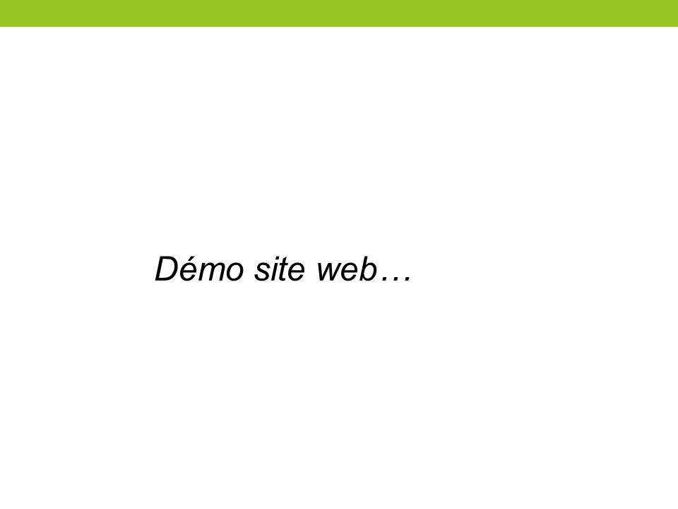 Démo site web…