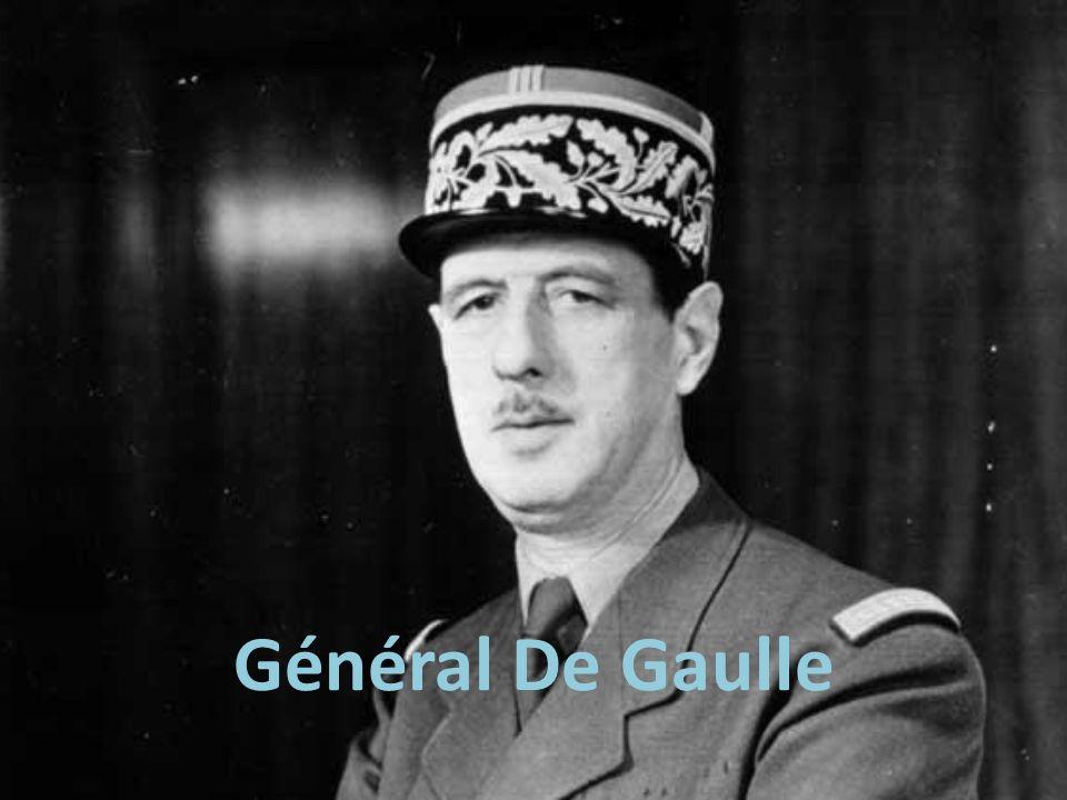 Général De Gaulle Quiz Quel est le mot pour TANK en français? Char de combat