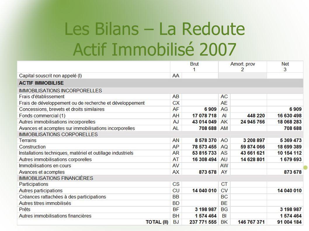 Les Bilans – La Redoute Actif Immobilisé 2007