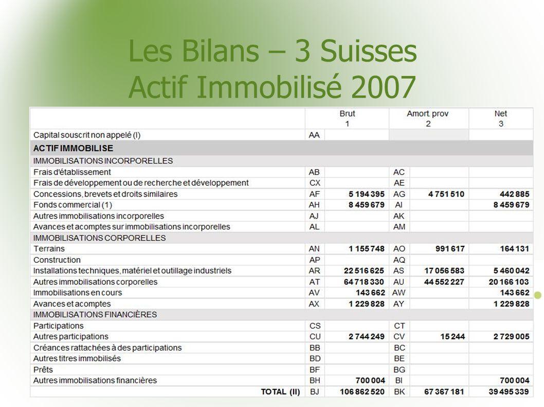 Les Bilans – 3 Suisses Actif Immobilisé 2007