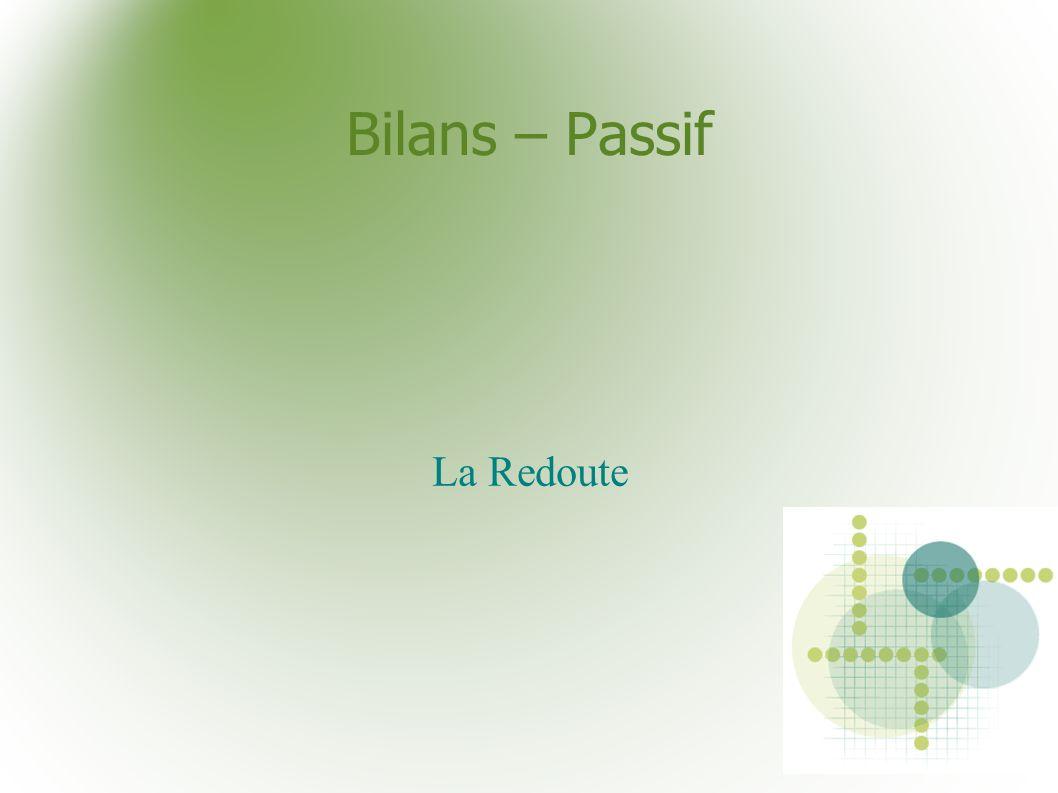 Bilans – Passif La Redoute