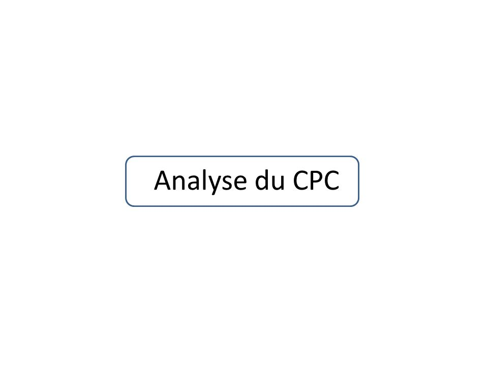 Analyse du CPC