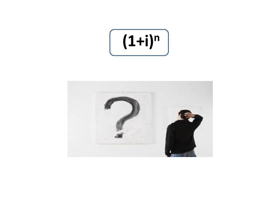 (1+i) n