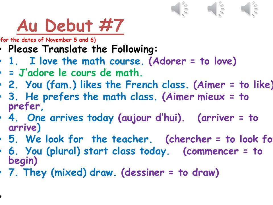 Test dorthographe 1.demander = to ask 2.échouer = to fail 3.écouter= to listen 4.enseigner = to teach 5.expliquer = to explain