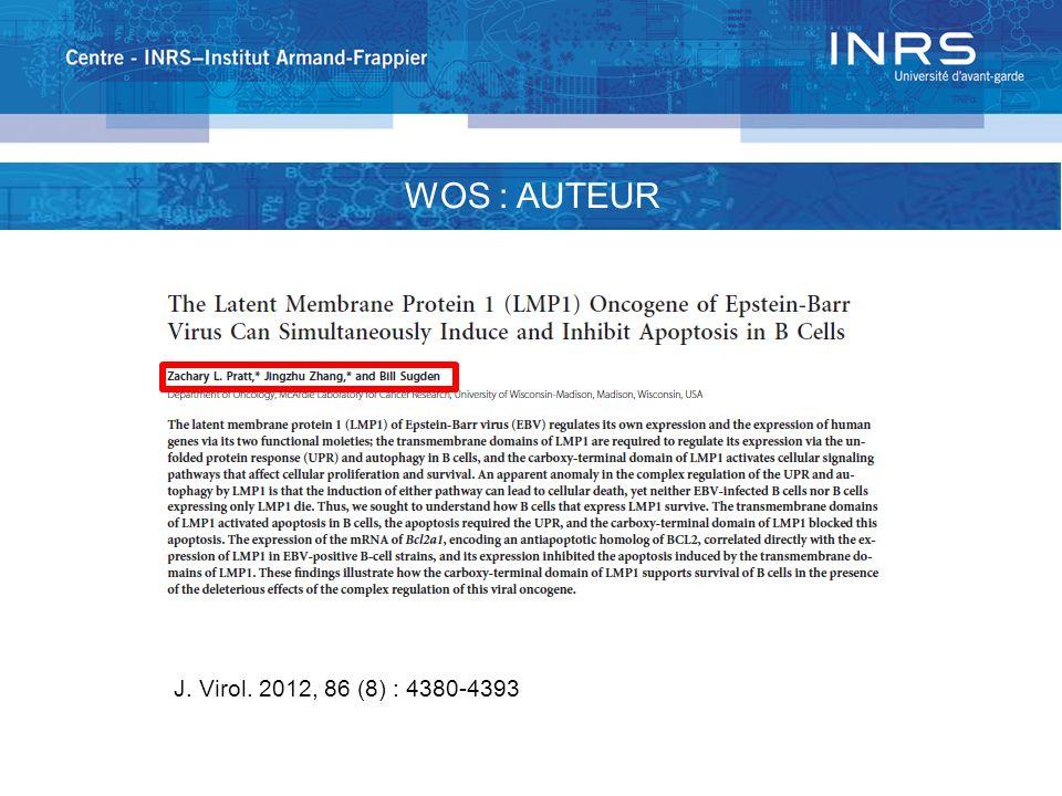 http://ip-science.thomsonreuters.com/cgi-bin/jrnlst/jlsubcatg.cgi?PC=D WOS : 256 CATÉGORIES DE SUJET Science citation Index expanded: 176 catégories de sujet