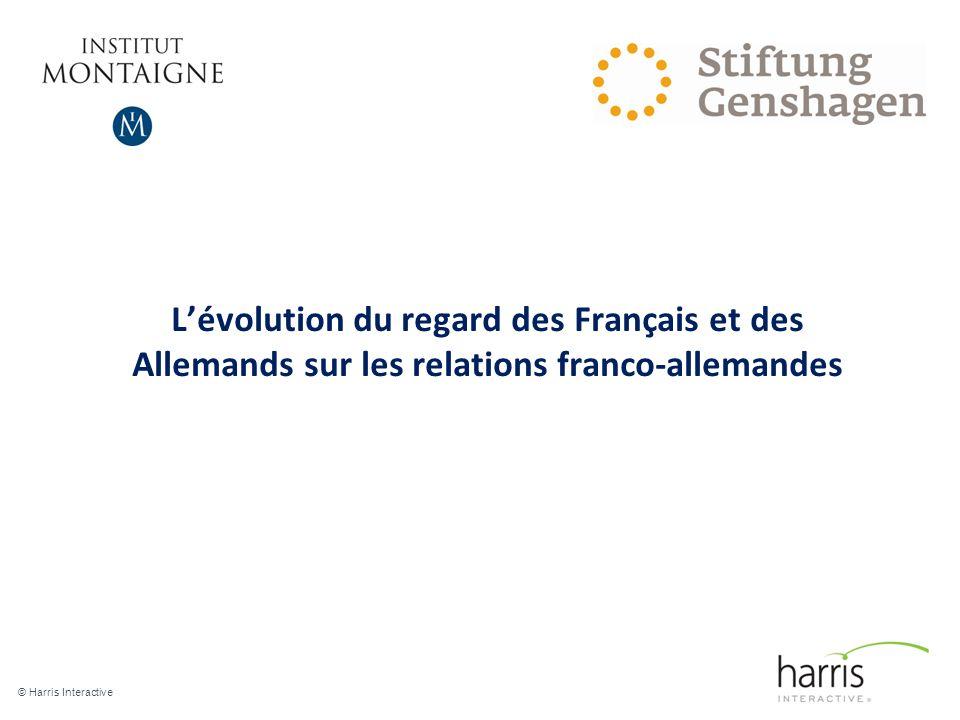 Lévolution du regard des Français et des Allemands sur les relations franco-allemandes © Harris Interactive