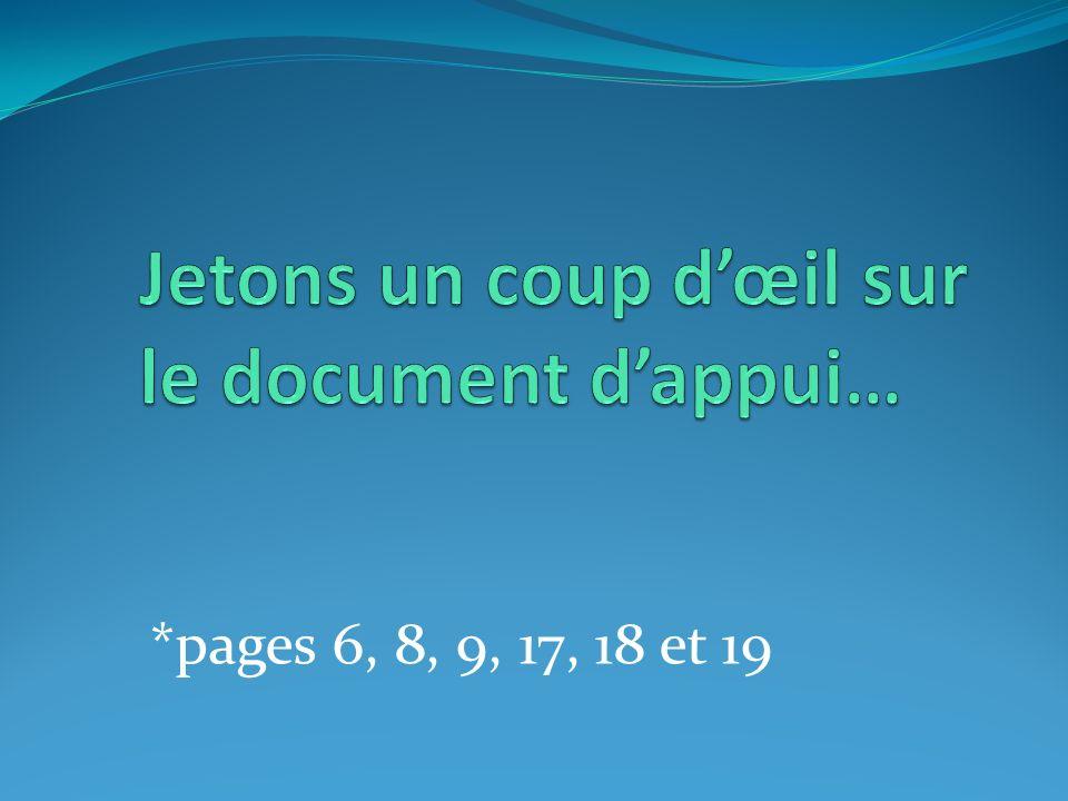 *pages 6, 8, 9, 17, 18 et 19