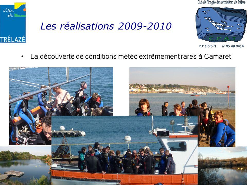 Les réalisations 2009-2010 La découverte de conditions météo extrêmement rares à Camaret Établissement APS n° 04909ET00040 Affilié à la FFESSM sous le