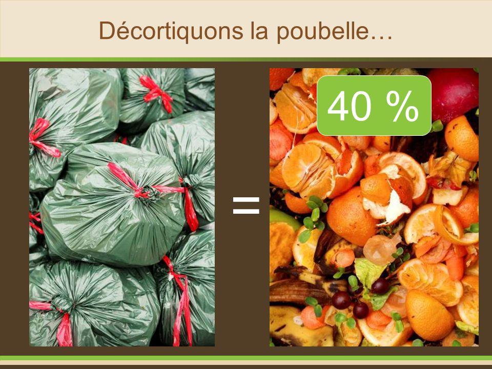 Décortiquons la poubelle… = 40 %