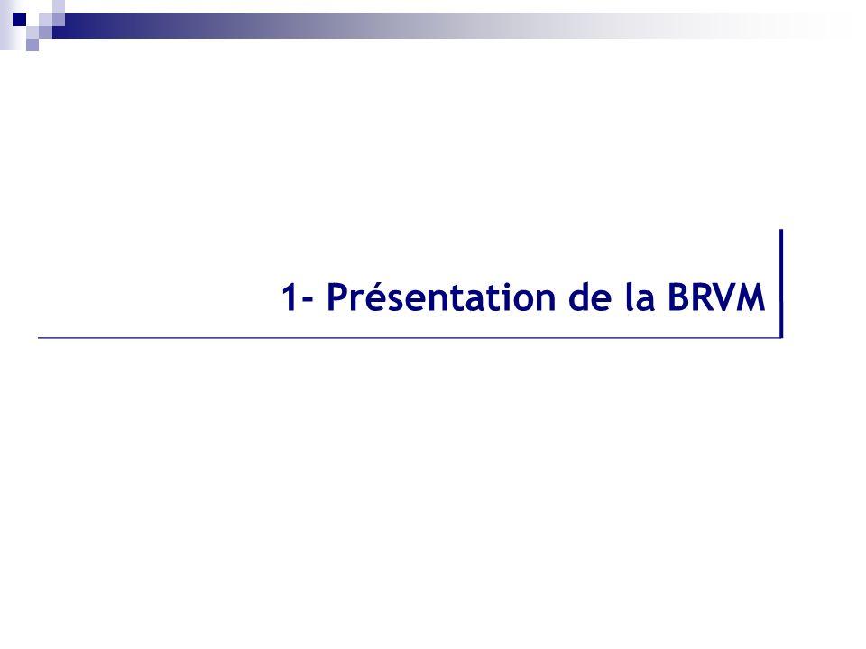 1- Présentation de la BRVM