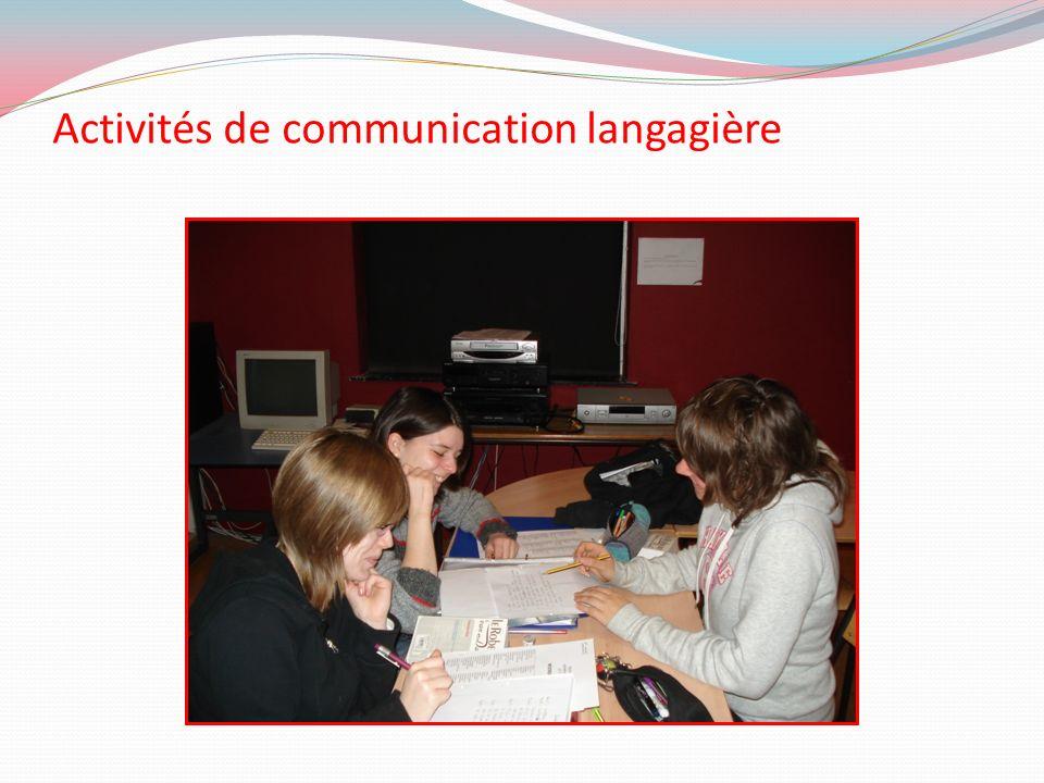 Activités de communication langagière
