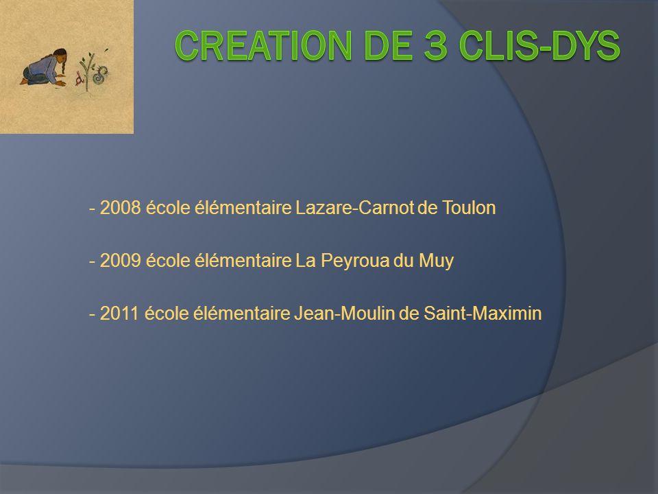 - 2008 école élémentaire Lazare-Carnot de Toulon - 2009 école élémentaire La Peyroua du Muy - 2011 école élémentaire Jean-Moulin de Saint-Maximin