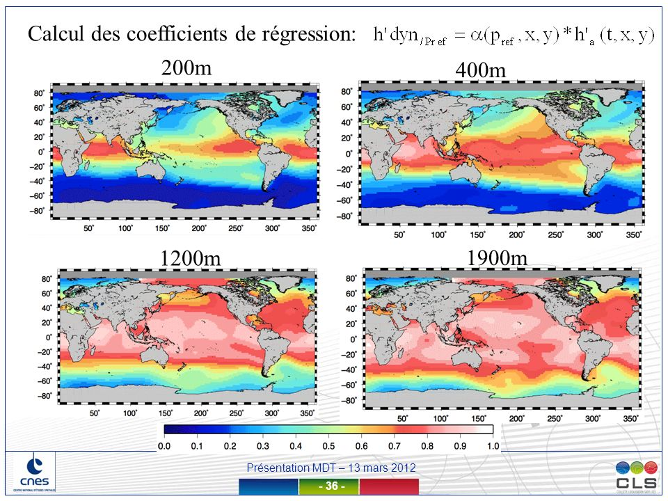 Présentation MDT – 13 mars 2012 - 36 - 200m 400m 1200m 1900m Calcul des coefficients de régression:
