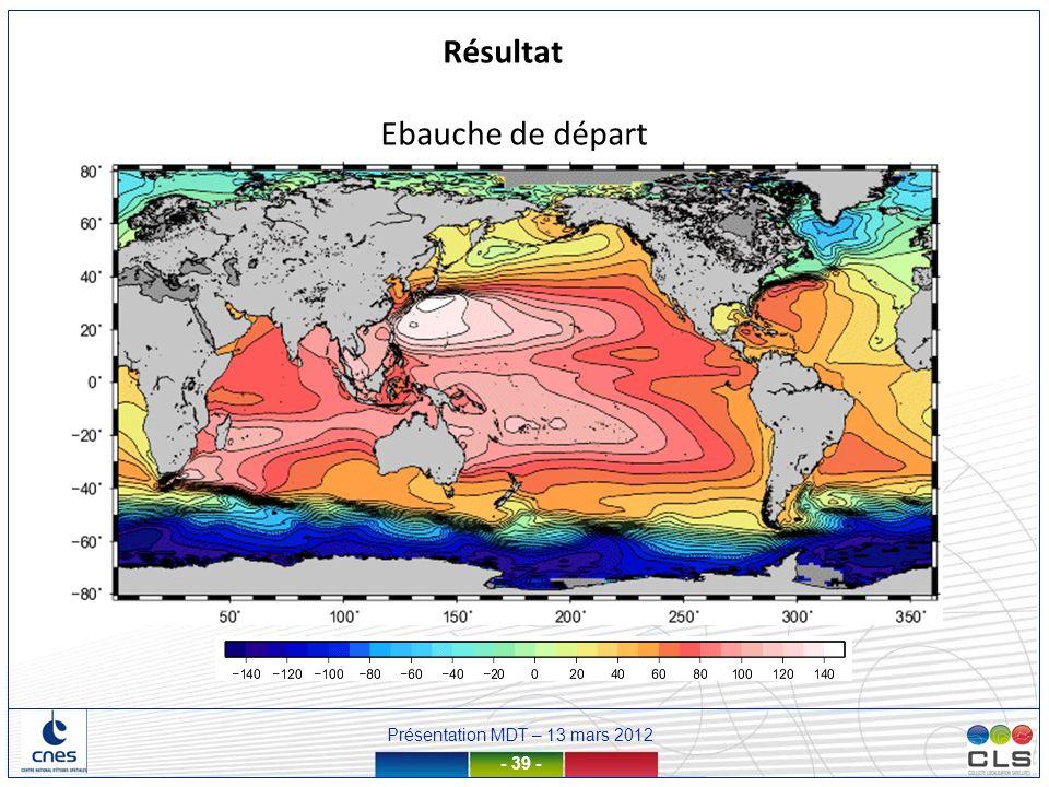 Présentation MDT – 13 mars 2012 - 39 - Ebauche de départ Résultat