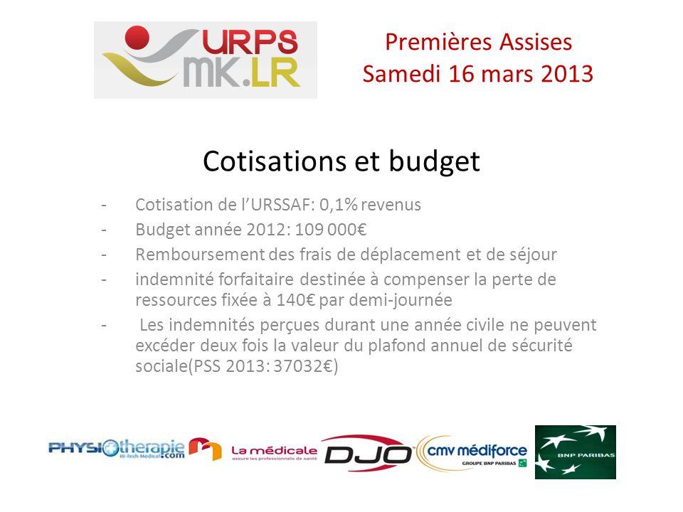 Missions - le Conseil de lOrdre - Le syndicat - LURPS des Masseurs-Kinésithérapeutes Premières Assises Samedi 16 mars 2013