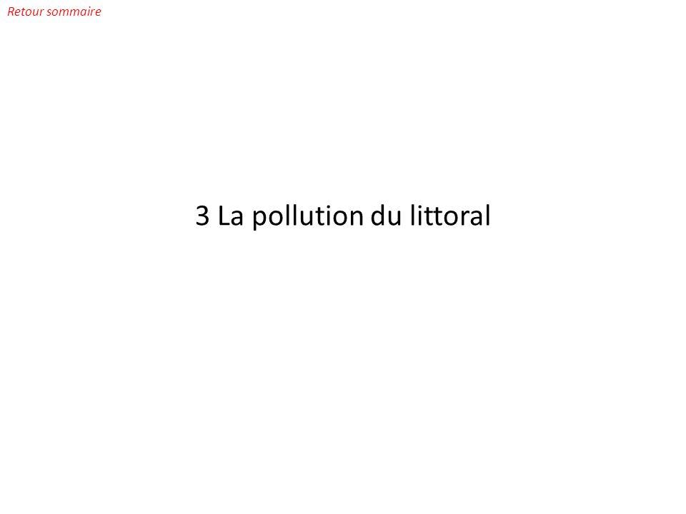 3 La pollution du littoral Retour sommaire