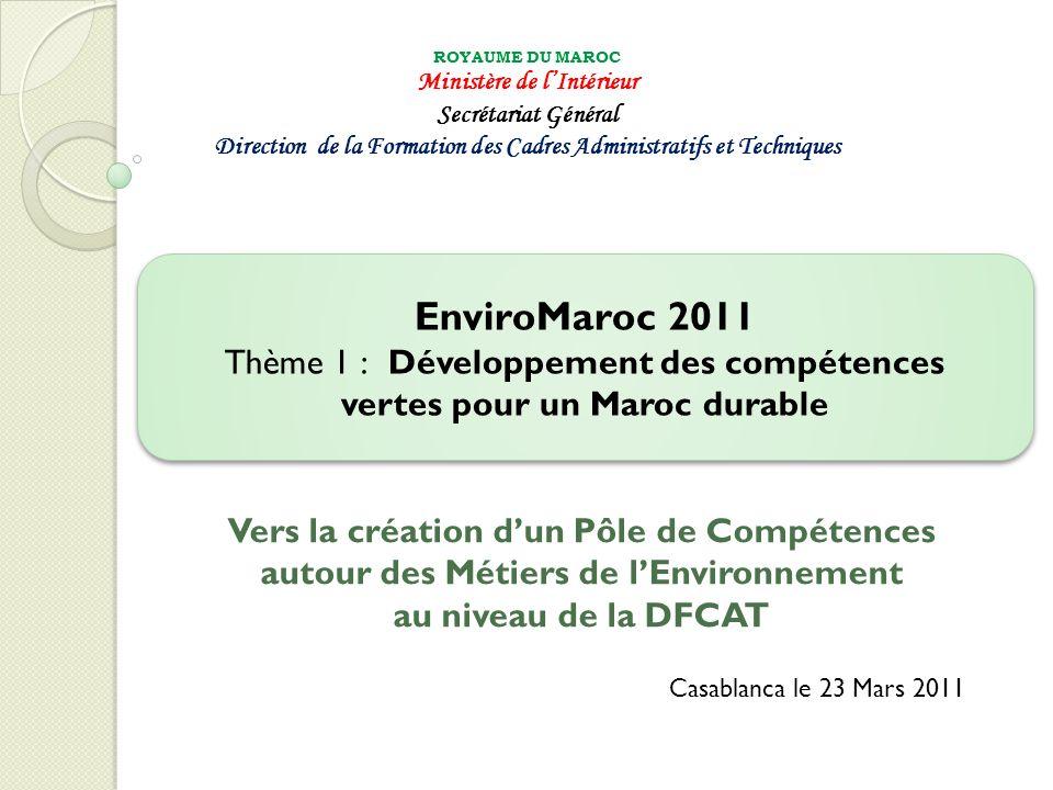 VIII – Résultats attendus EnviroMaroc 201142