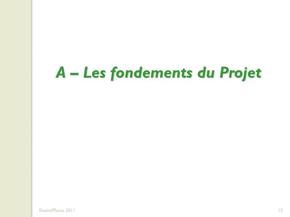 A – Les fondements du Projet EnviroMaroc 201115