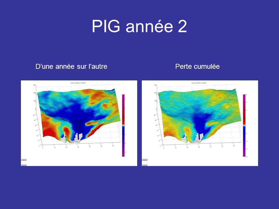 PIG année 2 Perte cumuléeDune année sur lautre 7 3 0 -3 -7 20 8 0 -8 -20