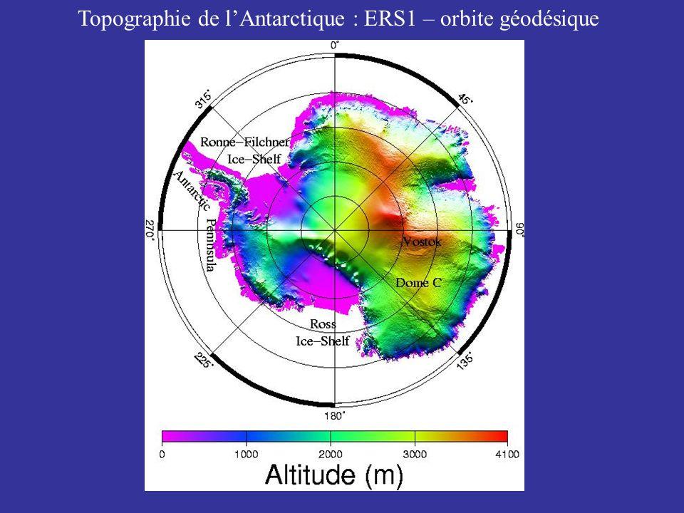 Topographie de lAntarctique : ERS1 – orbite géodésique