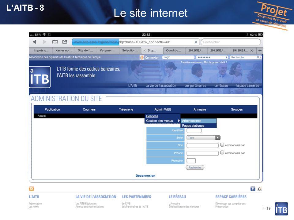 19 LAITB - 8 Le site internet