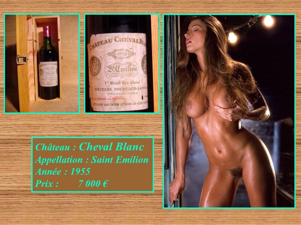 Château : Cheval Blanc Appellation : Saint Emilion Année : 1955 Prix : 7 000