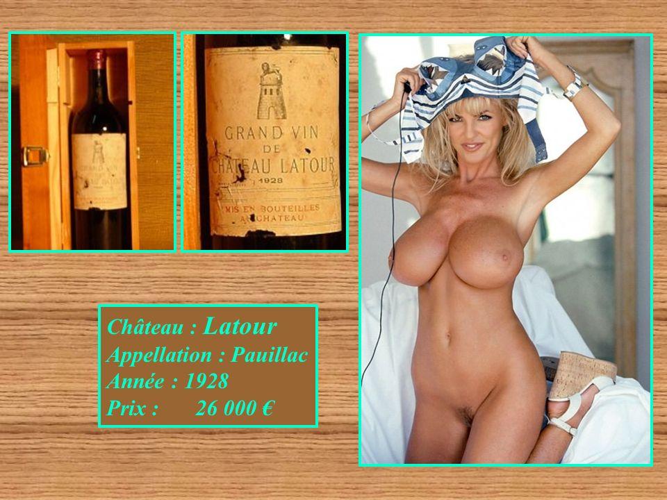 Château : Latour Appellation : Pauillac Année : 1928 Prix : 26 000