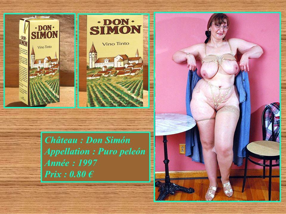 Château : Don Simón Appellation : Puro peleón Année : 1997 Prix : 0.80