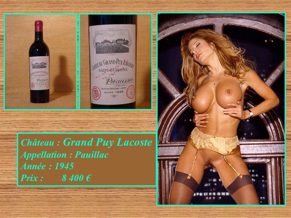 Château : Grand Puy Lacoste Appellation : Pauillac Année : 1945 Prix : 8 400