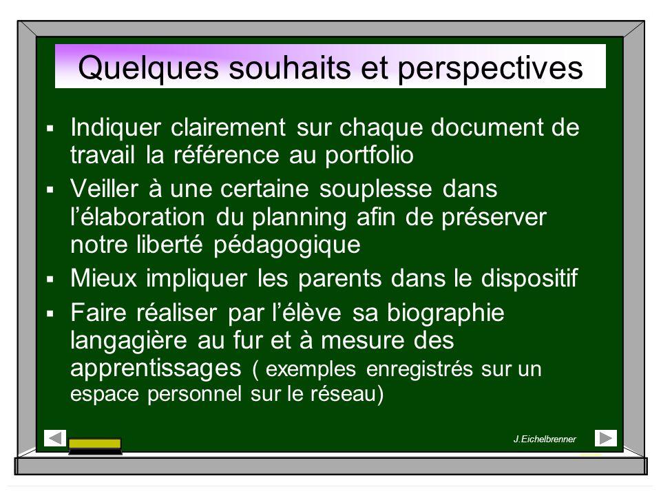 Indiquer clairement sur chaque document de travail la référence au portfolio Veiller à une certaine souplesse dans lélaboration du planning afin de pr