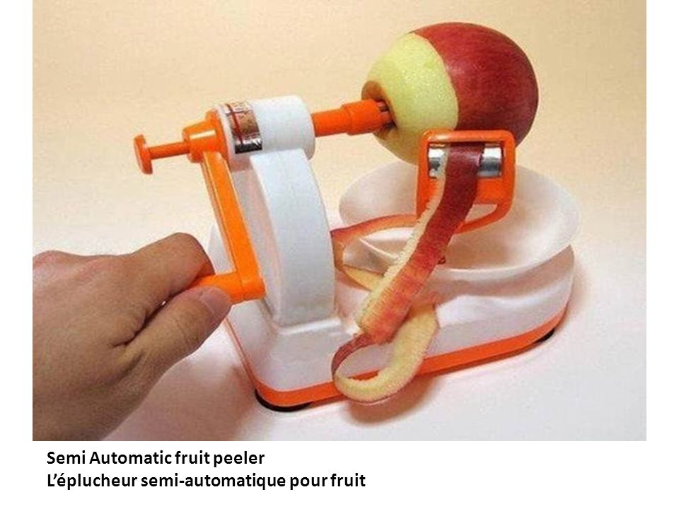 Semi Automatic fruit peeler Léplucheur semi-automatique pour fruit