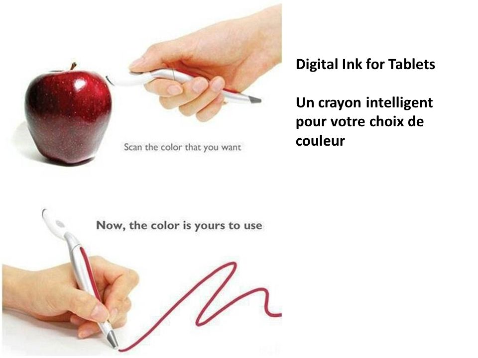 Digital Ink for Tablets Un crayon intelligent pour votre choix de couleur