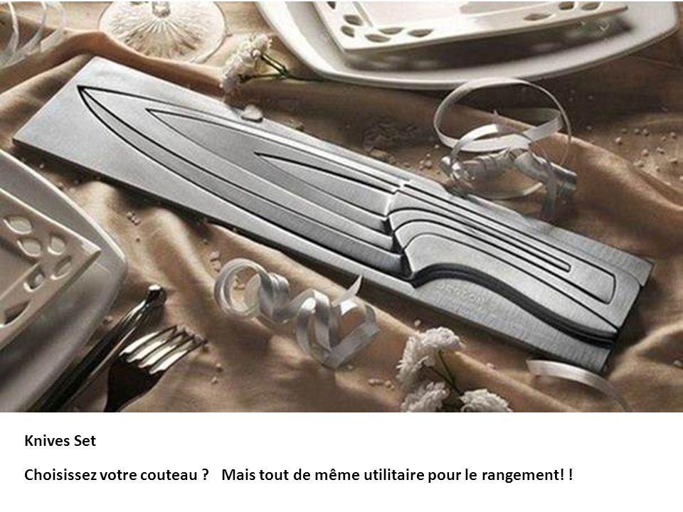 Knives Set Choisissez votre couteau ? Mais tout de même utilitaire pour le rangement! !