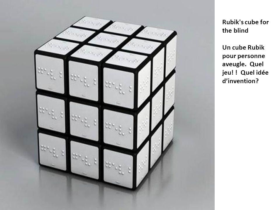 Rubik's cube for the blind Un cube Rubik pour personne aveugle. Quel jeu! ! Quel idée dinvention?