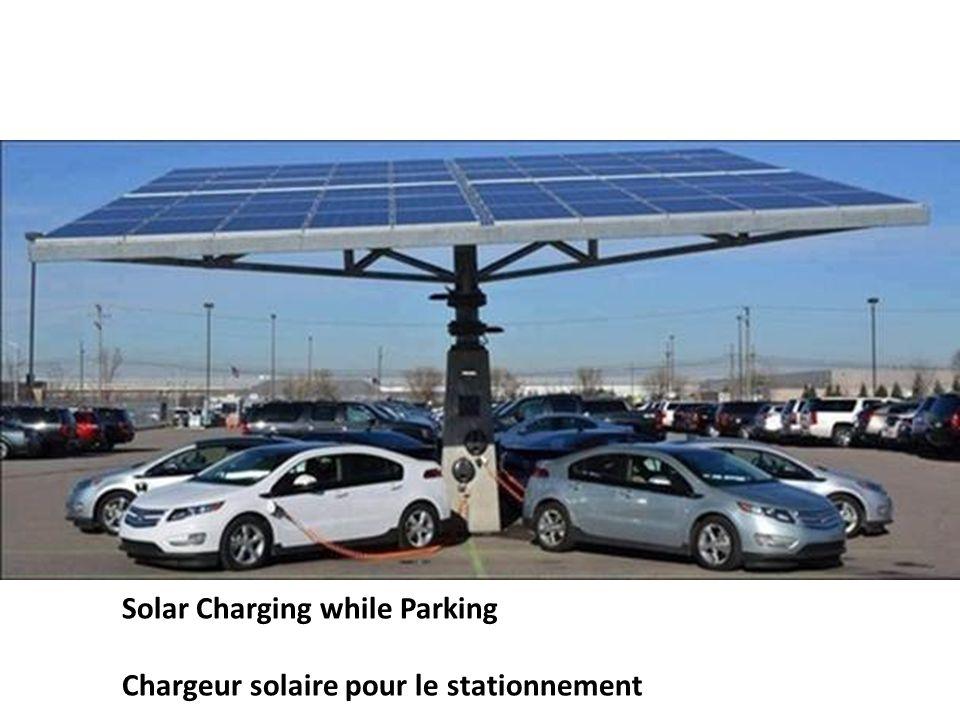 Solar Charging while Parking Chargeur solaire pour le stationnement