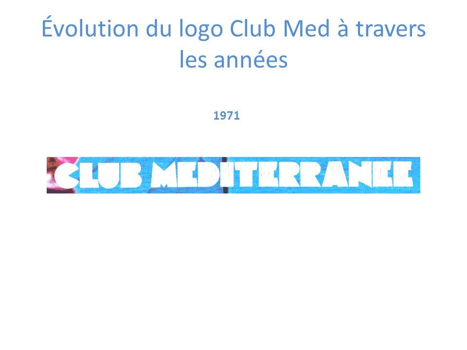 1971 Évolution du logo Club Med à travers les années