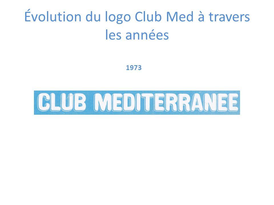 1973 Évolution du logo Club Med à travers les années
