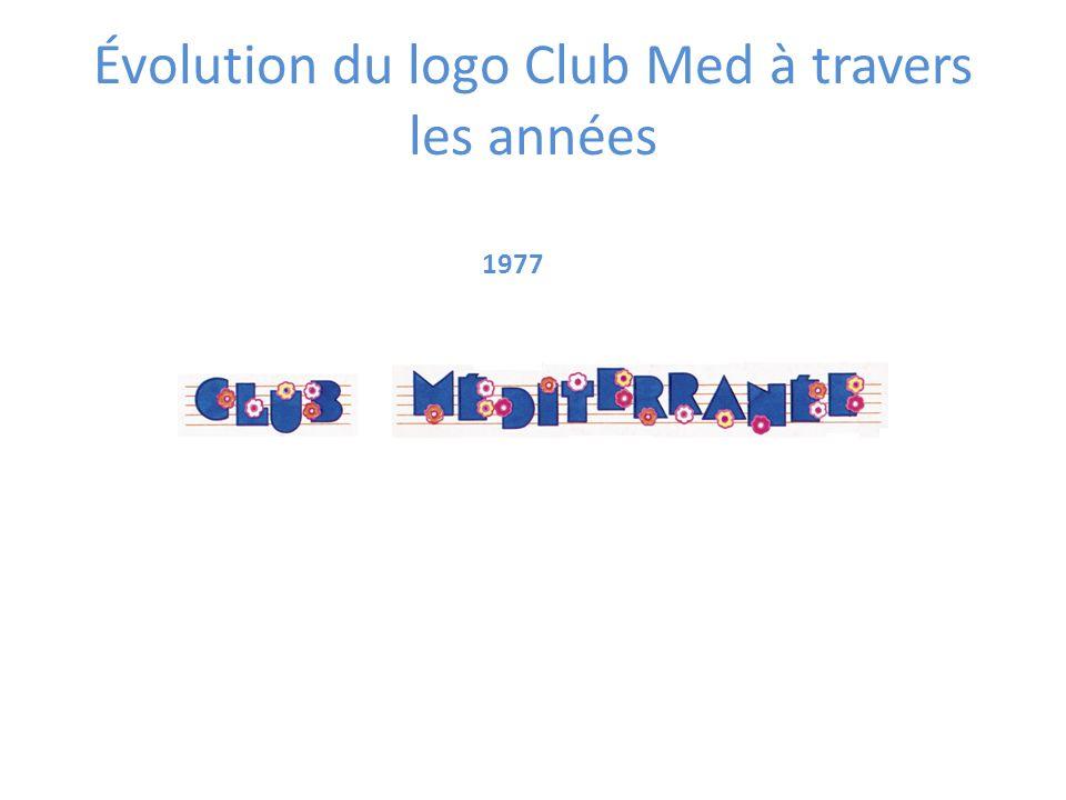 1977 Évolution du logo Club Med à travers les années