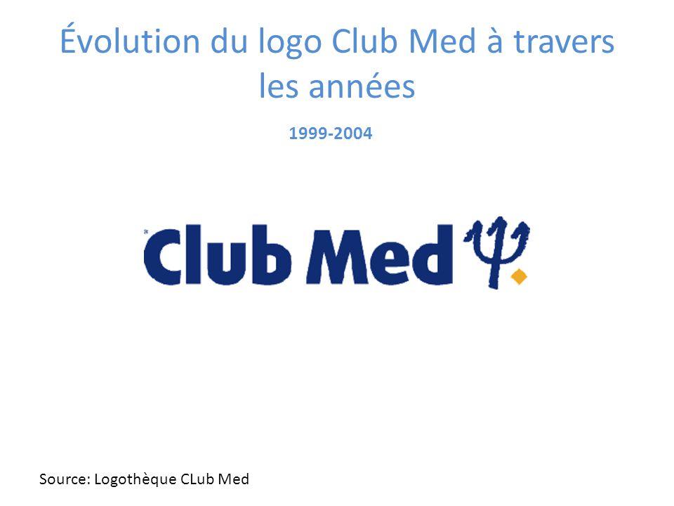 Évolution du logo Club Med à travers les années 1999-2004