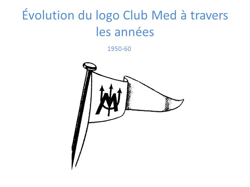 1950-60 Évolution du logo Club Med à travers les années