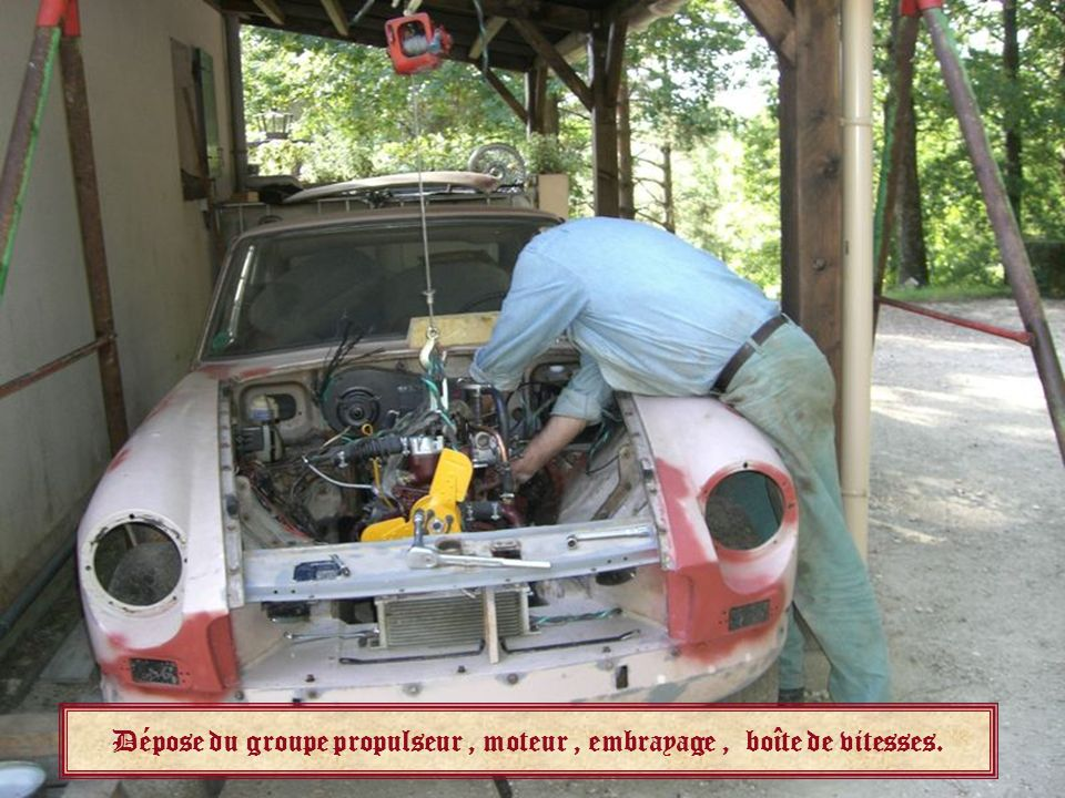 Travaux sur essieu arrière, pont, suspension, freins.